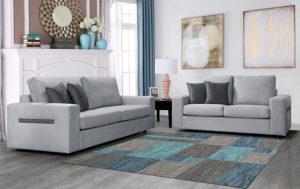 Σαλόνι με 2θέσιο και 3θέσιο καναπέ