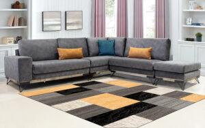 Γωνιακός μοντέρνος πολυμορφικός καναπές