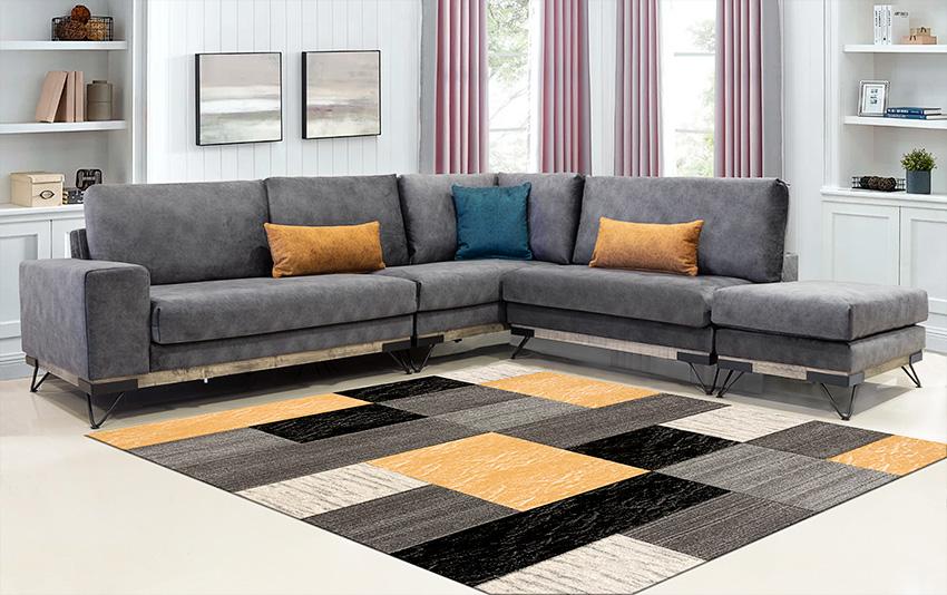 Μοντέρνος πολυμορφικός καναπές γωνία γκρι χρωμα – Επιπλο Καπατζα
