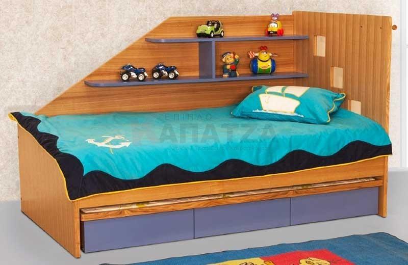 Παιδικό κρεβάτι καναπές Καναπές κρεβάτι με 3 συρτάρια