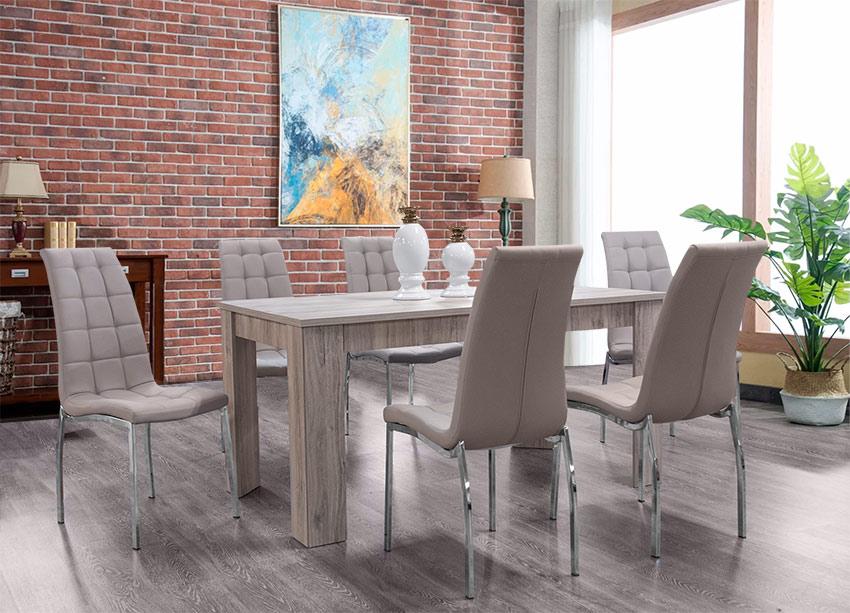Σετ τραπεζαρίας με έξι καρέκλες – Μοντέρνες τραπεζαρίες Έπιπλο Καπατζά