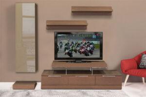 Σύνθετο τηλεόρασης σε ξύλο δρυός Έπιπλο Καπατζά