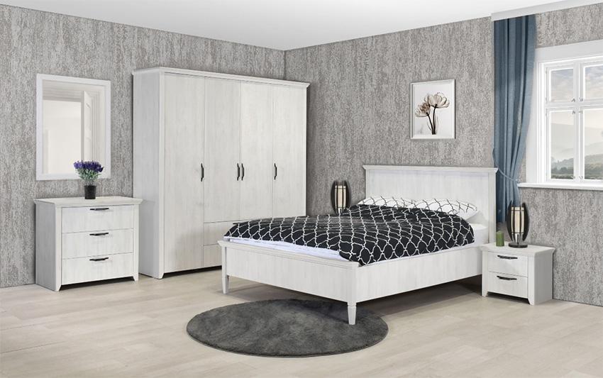 RUSTIK σετ κρεβατοκαμαρας με ντουλαπα χωρις καθρεπτη