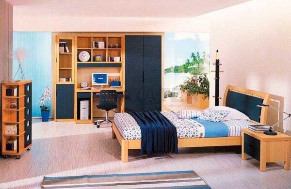 Παιδικό - Εφηβικό δωμάτιο σε φυσικό δρυ