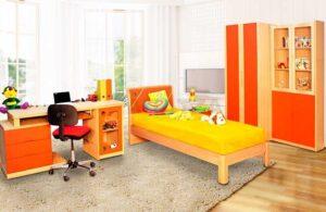 Παιδικό Εφηβικό δωμάτιο σε φυσικό δρυ
