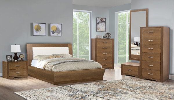 Σετ επίπλων για υπνοδωμάτιο σε ξύλο του δρυ