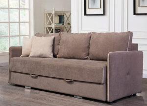Τριθέσιος καναπές με αποθηκευτικό χώρο