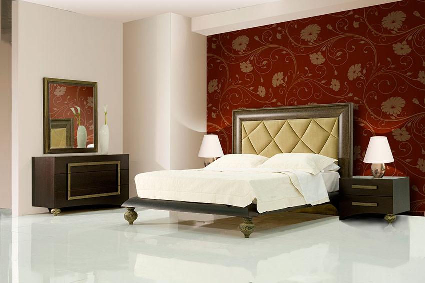Κρεβατοκάμαρα νεοκλασική σε ξύλο δρυ με πατίνα