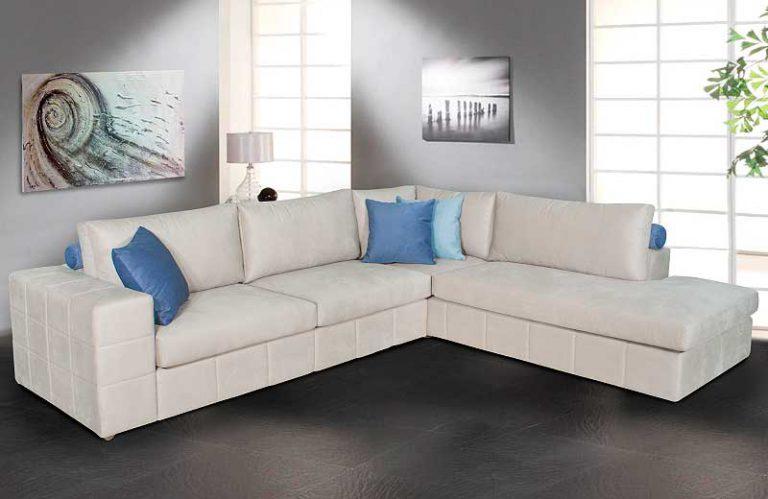 Μοντέρνος καναπές γωνία με καπιτονέ
