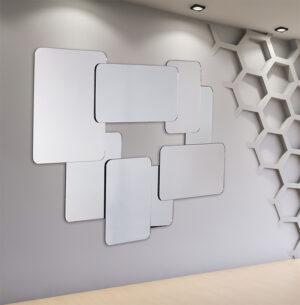 Χειροποίητος Καθρέπτης με ασύμμετρα σχήματα