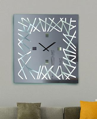 χειροποίητος καθρέπτης ρολόι με τεχνοτροπία
