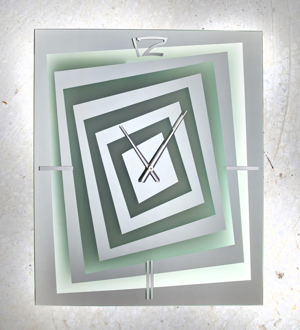 Καθρέπτης ρολόι ορθογώνιος με φωτισμό Led