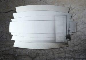 Ασύμμετρος χειροποίητος καθρέπτης τοίχου