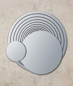 Ασύμμετρος στρογγυλός καθρέπτης με τεχνοτροπία