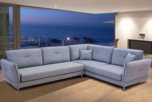 Καναπές γωνία με ανακλινόμενες πλάτες
