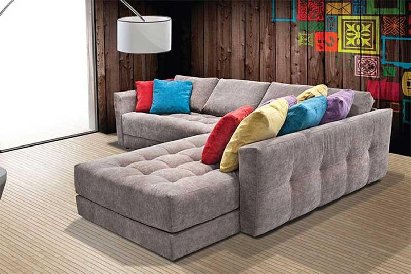 Γωνιακός καναπές καπιτονέ