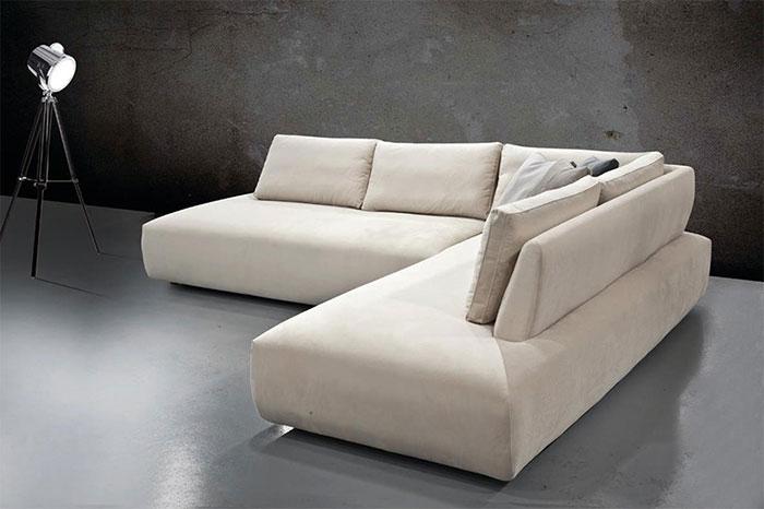 Γωνιακό σαλόνι με αδιάβροχο ύφασμα