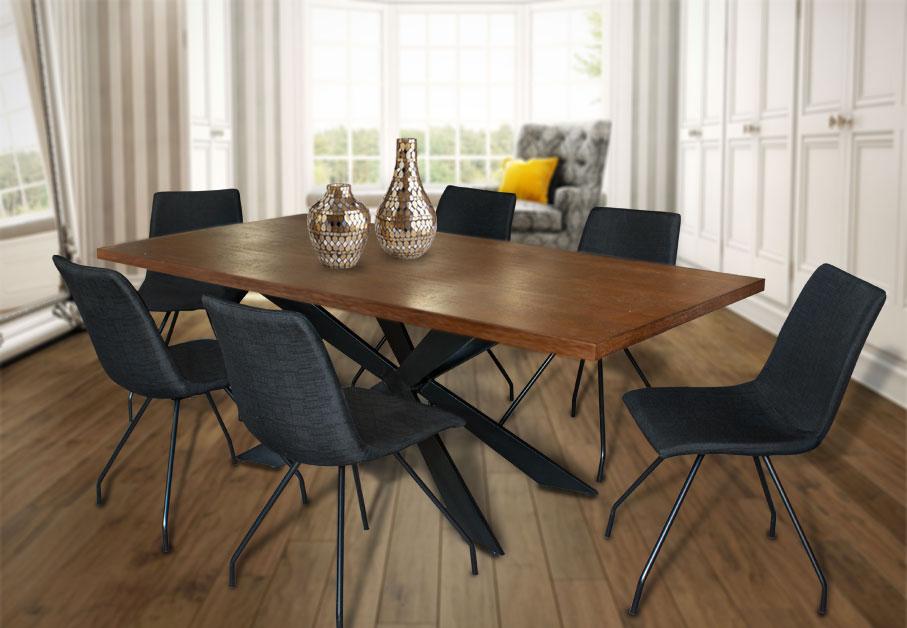 Τραπέζι σαλονιού με μεταλλικό σκελετό