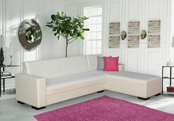Γωνιακός καναπές κρεβάρι με αποθηκευτικό χώρο Προσφορές σε σαλόνια Επιπλα Καπατζας