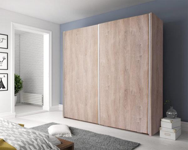 Συρόμενη ντουλάπα σε υπνοδωμάτιο