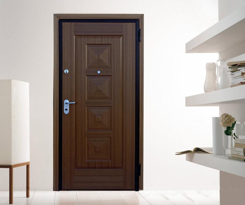 Θωρακισμένη Πόρτα με Χειροποίητη Επένδυση Ζεμπράνο