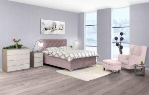 Κρεβάτι Διπλό με Στρώμα