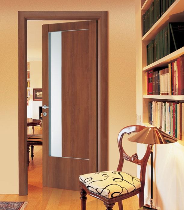 Πόρτα Εσωτερικού Χώρου με Τζάμι σε Κερασιά