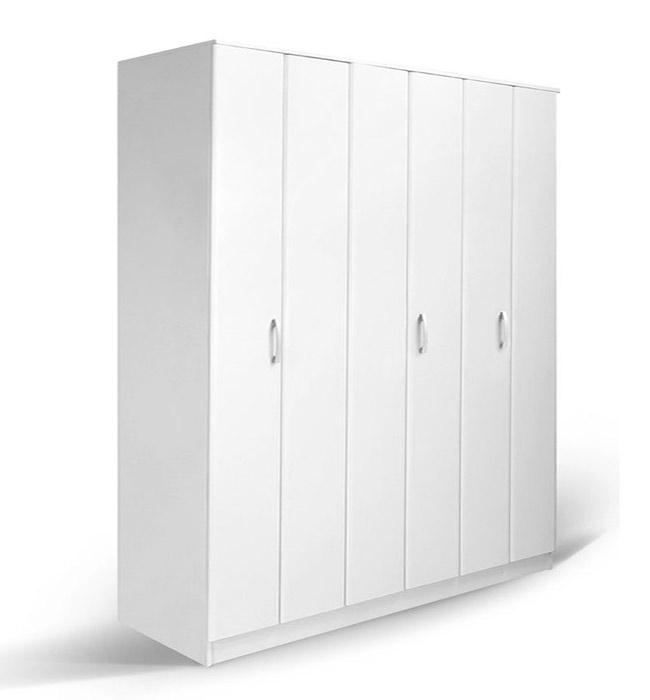 Τρίφυλλη Ντουλάπα Φυσούνα Λευκό Χρώμα Έπιπλο Καπατζάς Ντουλάπες