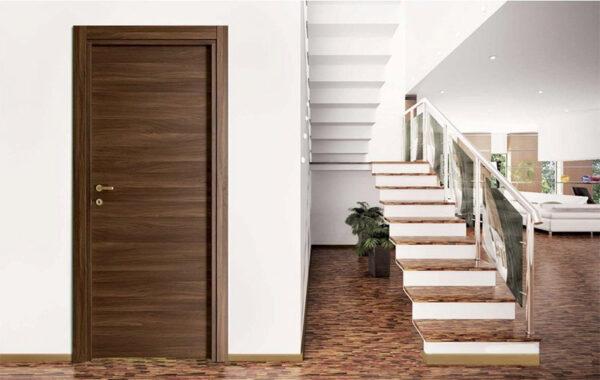 Laminate Πόρτα Εσωτερική Πόρτα Ανάγλυφη Καρυδιά Εσωτερικές Πόρτες Έπιπλο Καπατζά