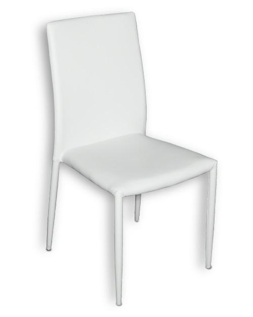 Καρέκλα Κουζίνας με Λευκό Τεχνόδερμα Καρέκλες Κουζίνας Έπιπλο Καπατζά