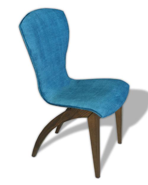 Καρέκλες Τραπεζαρίας Καρέκλα σε Ξύλο Οξιάς με Αλέκιαστο Ύφασμα