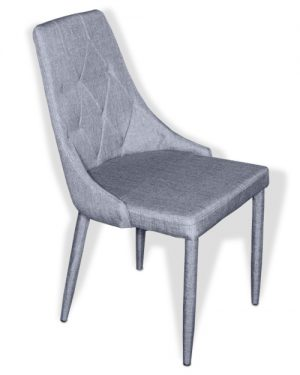 Μεταλλική Καρέκλα Κουζίνας με Ύφασμα