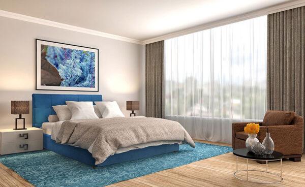 Κρεβάτι Ντυμένο Υπέρδιπλο με Δυνατότητα Επιλογής Υφάσματος Έπιπλο Καπατζά