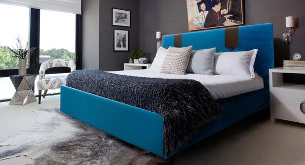 Κρεβάτι ντυμένο σε μοντέρνο σχεδιασμό Έπιπλο Καπατζά