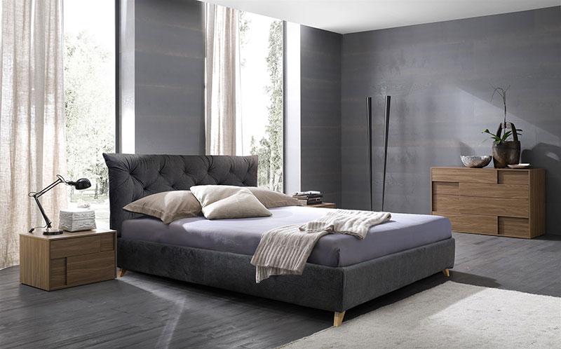 Κρεβάτι ντυμένο υπέρδιπλο με καπιτονέ Κρεβάτια Έπιπλο Καπατζά