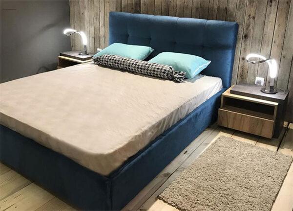 Μοντέρνο ντυμένο κρεβάτι με καπιτονέ κεφαλάρι Κρεβάτια Καπατζά