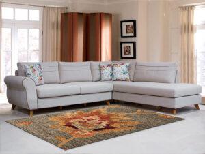 Γωνιακός καναπές σε νεοκλασικό στυλ