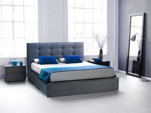 Ντυμένο κρεβάτι με καπιτονέ σε προσφορά Κρεβάτια Έπιπλο Καπατζά