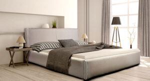 Ντυμένο κρεβάτι σε μοντέρνο σχεδιασμό Κρεβάτια Έπιπλο Καπατζά