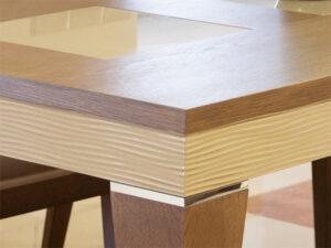 Τραπεζαρία σαλονιού με ακατέργαστο ξύλο δρυός