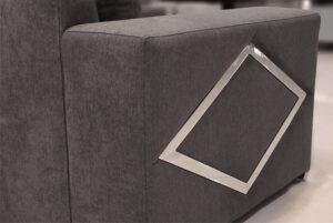 Γωνιακό σαλόνι με διακοσμητικό ρόμβο