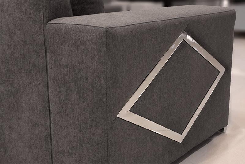 Γωνιακό σαλόνι με διακοσμητικό ρόμβο Έπιπλο Καπατζά