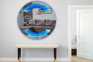 Καθρέπτης τοίχου ρολοϊ με φωτισμό led Έπιπλο Καπατζά