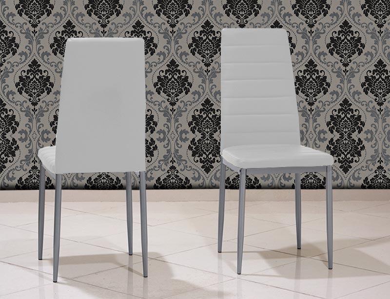 Καρέκλα κουζίνας μεταλλική άσπρη Έπιπλο Καπατζά