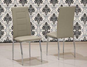 Καρέκλα κουζίνας με οικολογικό τεχνόδερμα