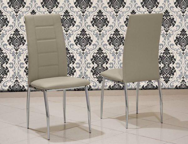 Καρέκλα κουζίνας με οικολογικό τεχνόδερμα Έπιπλο Καπατζά