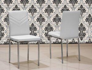 Καρέκλα κουζίνας με inox πόδια