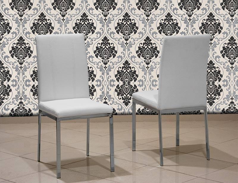 Μεταλλική καρέκλα κουζίνας με τεχνόδερμα Έπιπλο Καπατζά