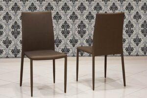 Μοντέρνα καρέκλα κουζίνας με ύφασμα