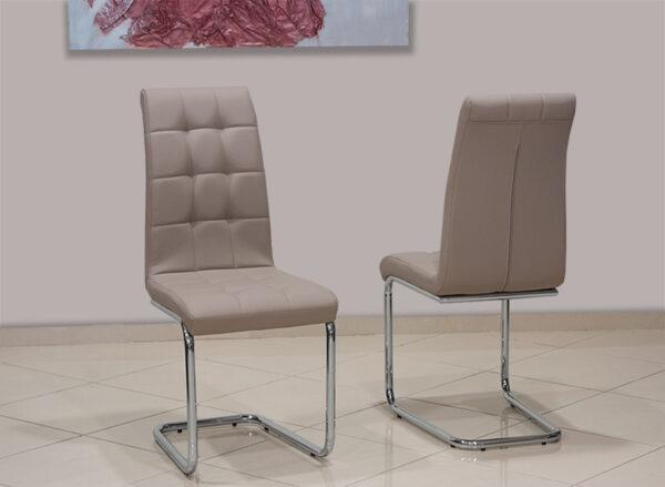 Μοντέρνα καρέκλα τραπεζαρίας με καπιτονέ Έπιπλο Καπατζά
